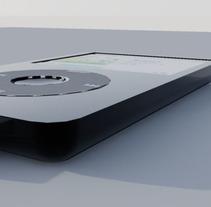 Modelado y renderizado Ipod y auriculares. A 3D&Interior Design project by Marta Vicente Ferraz         - 07.12.2012