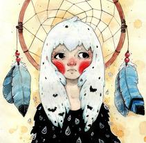 Dreamy Owl. A Illustration project by Alexia Viñambres Pleguezuelo - 01-10-2014