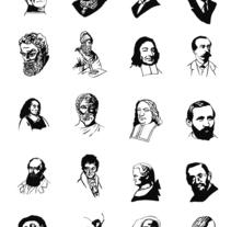 Personajes de la historia del Dibujo Técnico . A Illustration project by César Calavera Opi - Oct 22 2014 12:00 AM
