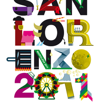 Cartel San Lorenzo 2011 . A Illustration, and Graphic Design project by César Calavera Opi - Oct 22 2014 12:00 AM