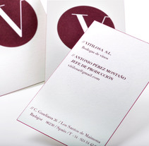 Papelería corporativa de Vitilosa. Un proyecto de Diseño de Omán Impresores  - Miércoles, 29 de octubre de 2014 00:00:00 +0100