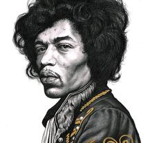 Jimi Hendrix. A Illustration, and Fine Art project by Jan Serra - 01-11-2014