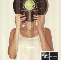 """Diseño de cartel """"Sonar Barcelona 2014"""". Un proyecto de Diseño y Diseño gráfico de Natalia López Guerrero - 14-10-2014"""