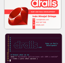 Tarjetas de Visita - Drails. A Br, ing, Identit, and Graphic Design project by Ivan H.          - 20.11.2014