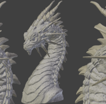 Dragon Sculpt. Um projeto de 3D e Escultura de Alberto Cordero          - 09.12.2014