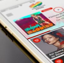 40 Principales. Un proyecto de Diseño, Desarrollo de software, UI / UX, Dirección de arte y Diseño gráfico de Fourandgo Mobile  - 21-12-2014