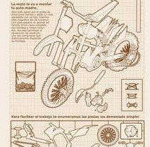 Como montar tu moto. Un proyecto de Ilustración de Aitor Lubián Sánchez - Viernes, 02 de enero de 2015 00:00:00 +0100