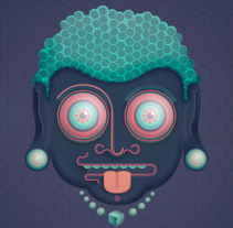 Buddhie. A Illustration project by Javi  Viewer - Jan 14 2015 12:00 AM