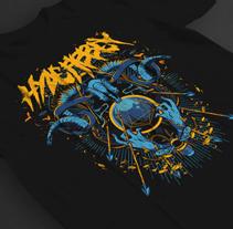 Hyde Abbey / Poster & t shirt illustration. Un proyecto de Ilustración y Diseño de vestuario de Natalia Escaño - 18-01-2015