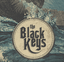 THE BLACK KEYS. A Illustration, Graphic Design, and Screen-printing project by Error! Design (Xavi Forné) - 19-01-2015