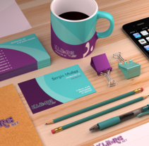 Mockup 3d para identidad gráfica. A 3D, Br, ing&Identit project by Sergio Muñoz Saiz         - 13.05.2015