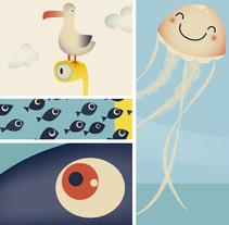 Medidor infantil. Bajo el mar.. Un proyecto de Ilustración de Ainara Tavárez - 01-05-2014