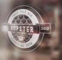 Hopster. Una cerveza para hipsters.. Um projeto de Design, Design de produtos e Tipografia de Peter Sarkozi - 15-02-2015