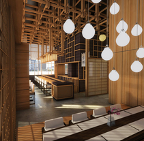 Tatami Restaurant. A 3D, Interior Architecture&Interior Design project by Pablo Padilla Diaz         - 19.06.2014