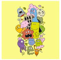Montón de bichos. A Illustration, and Character Design project by Isaac González         - 19.02.2015