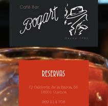 Café Bar Bogart. Un proyecto de Diseño Web de mthibout         - 06.10.2013