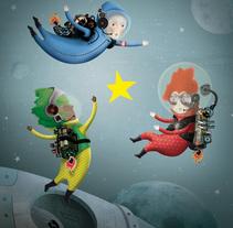 buscadores de estrellas. A Illustration project by IlustrA         - 30.11.2014