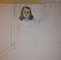 Homenaje al resplandor acrílicos en proceso. A Painting project by Tamara Gutiérrez Torres         - 28.02.2015