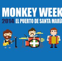 "Cartel ""Monkey festival"". Um projeto de Design, Publicidade, Eventos e Design gráfico de Mikel del Arco Zumarraga         - 09.11.2014"