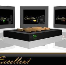 """Packaging  de galletas """"Excellent"""". Um projeto de Design, Publicidade, 3D, Br, ing e Identidade, Design gráfico, Packaging e Design de produtos de Mikel del Arco Zumarraga         - 23.02.2013"""