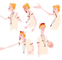 Entrenadora. A Character Design project by MªLaura Brenlla - 17-03-2015