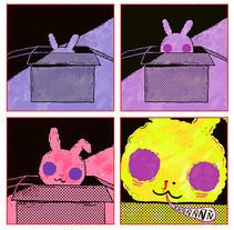Conejo saliendo de una caja. A Illustration, and Comic project by Ana Galvañ - 22-03-2015
