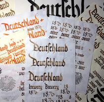 Deutschland Brewery 1876 con góticas potentes. A Calligraph project by Juan Seguí - 31-03-2015