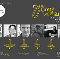 The Copy Weeks. A Advertising, Creative Consulting, Events, Writing, Cop, writing, and TV project by Dorfland Makers         - 06.04.2015