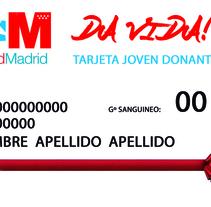 TARJETA DE DONANTE DE SANGRE. Um projeto de Design, Design gráfico e Design de produtos de Ángel J. Alonso Moruno         - 06.01.2015