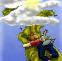 Habichuelas mágicas, Trasmutacuentos. Um projeto de Ilustração de Pilar pilarmontesluna@gmail.com         - 20.04.2015