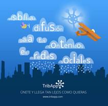 TribApp. Fondo Stand Omexpo. Un proyecto de Diseño, Ilustración, Diseño gráfico y Marketing de Josué Hernando         - 19.06.2013