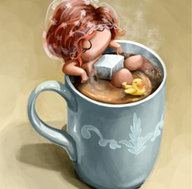 I love coffee. A Illustration project by macus romero - 30-04-2015