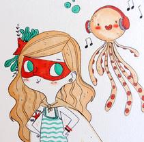 SÚPER SIRENA ADOLESCENTE. Un proyecto de Ilustración de Lydia Sánchez Marco - 10-05-2015