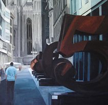 Robert Indiana en Corso Vittorio Emanuelle II (Milano). Acrílico sobre tabla. A Fine Art project by Africa Torres         - 12.05.2015