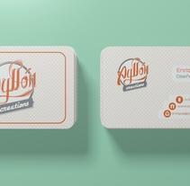 Nuevo logo & Tarjeta personal. Un proyecto de 3D, Br, ing e Identidad, Diseño gráfico y Caligrafía de Enrique Núñez Ayllón - 22-05-2015