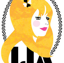 Retrato Lia. A Illustration, and Graphic Design project by Marta María         - 24.05.2015