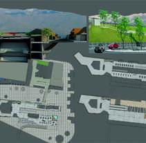 Trabajos universitarios: Centro cultural. Remodelacion y refuncionalización de la ex terminal de bus. Un proyecto de Diseño, 3D, Arquitectura, Diseño gráfico, Arquitectura interior, Diseño de interiores y Paisajismo de Laura         - 01.06.2015