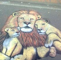 Familia de leones . A Fine Art project by Andrés López         - 18.09.2014