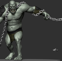 Orc WIP. A Character Design, Game Design, and Sculpture project by Javier Fabuel         - 03.06.2015