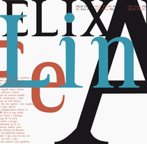 Typography: Feline II. A Design, Editorial Design, Graphic Design, T, pograph, and Writing project by Félix Alcaraz         - 09.06.2013