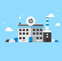 Ilustraciones HP. Un proyecto de Ilustración, Motion Graphics, Informática y Diseño de personajes de Huaman Studio  - 10-06-2015