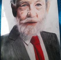 Ian McKellen. A Illustration, and Fine Art project by Cyax Collinwood - 13-05-2015