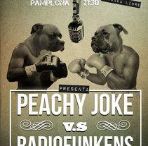 Peachy Joke vs Radiofunkens. Um projeto de Publicidade, Direção de arte e Design de personagens de Álvaro Martín martín         - 01.02.2012