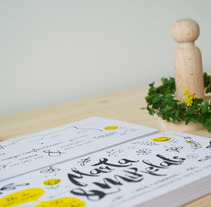 Invitación de Boda MARTA & MIKELATS. A Design, Graphic Design, and Screen-printing project by Kitxune  - Jul 09 2015 12:00 AM