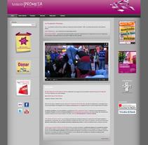 Fundación Promesa (Wordpress). Un proyecto de Diseño gráfico, Diseño Web y Desarrollo Web de Adelaida Castro Navarrete - Viernes, 14 de enero de 2011 00:00:00 +0100