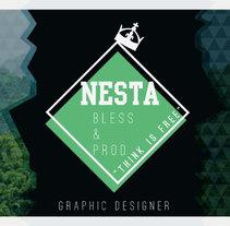 Personal Card Nesta Brand. Um projeto de Design, Br, ing e Identidade e Design gráfico de Natalia Beato Pérez         - 20.07.2015