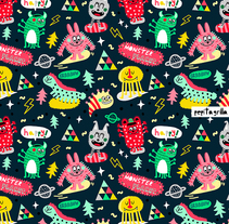 MONSTER COLLECTION. A Design, Illustration, Character Design, and Graphic Design project by Pepitagrilla         - 20.07.2015