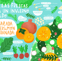 Horchata Magazine - 3 Recetas para Horchata 3 . Un proyecto de Ilustración de ana seixas         - 05.01.2015