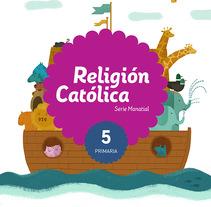 Portadas Santillana  - Série Manantial / Religión Católica. A Illustration project by ana seixas         - 14.02.2015