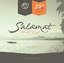 Salamat Typeface. A Br, ing, Identit, Calligraph, T, and pograph project by Joluvian  - 08.10.2015